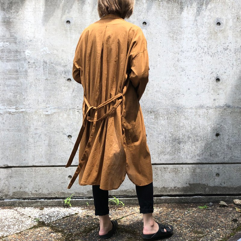 Camel long shirt (shirt one-piece dress)