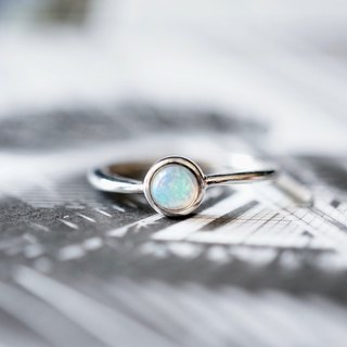 ITS-R101 [Ring Series, Opal, Opal, Opal] 925 Silver Ring.