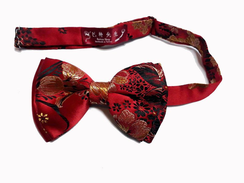 Red Chinese Bow Tie Bow ties