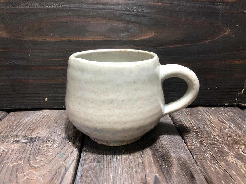 Hand made pottery cup - gas burning celadon cup mug