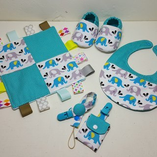 Elephant in water births ritual to appease towel Baby Shoes + + + bibs talismans pocket clip + pacifier clip chain