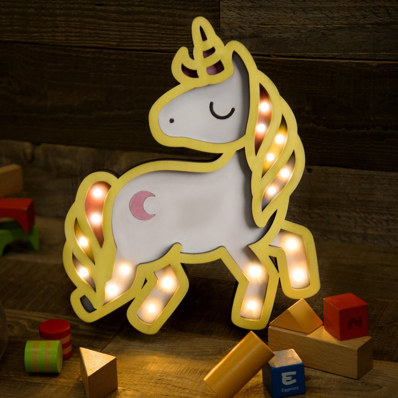 Handmade Unicorn Wooden Lamp - Night Light - Desk Lamp - Birthday Gift - Xmas