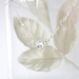 Handmade Simple Herkimer Diamond Necklace, Crystal Necklace, Ready to Ship
