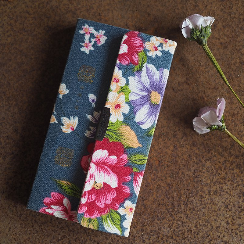 Taiwan flower cloth notebook type smart case (for all models) 4 [Order production]