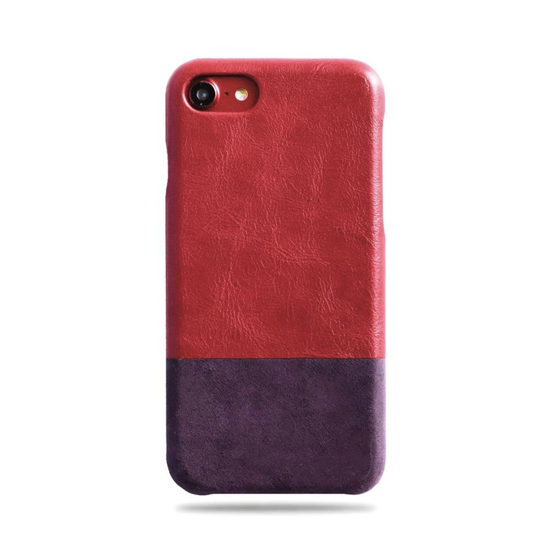 Customized red red with purple leather IPHONE 8/7 mobile phone case
