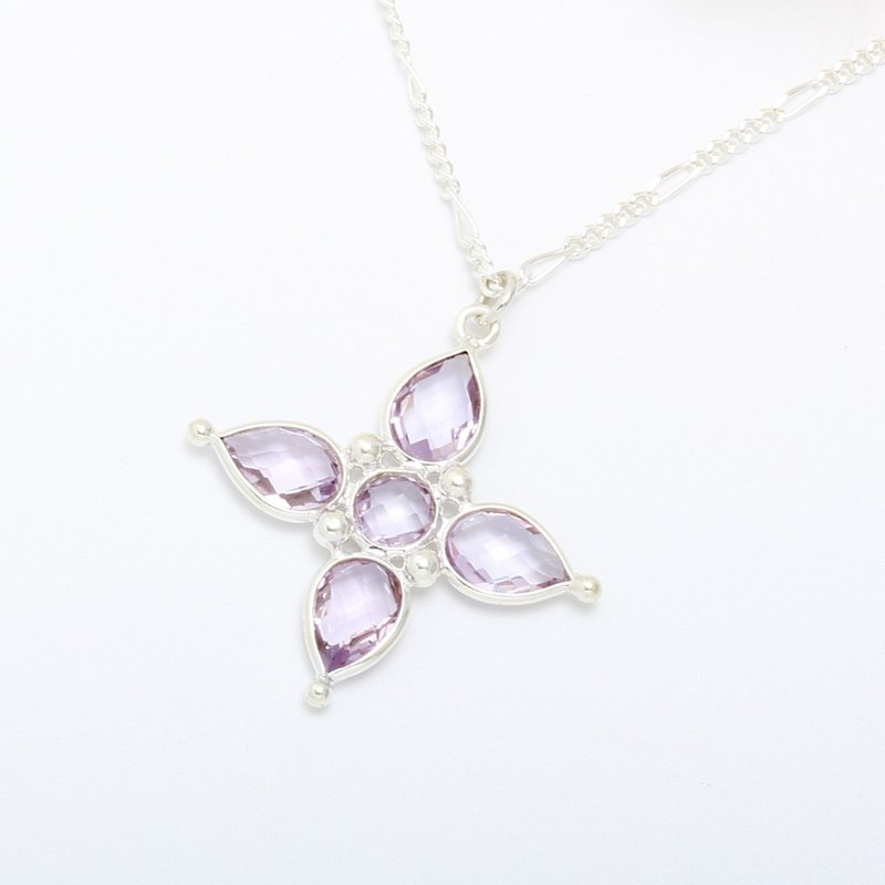 Amethyst s925 sterling silver necklace mother's Day gift