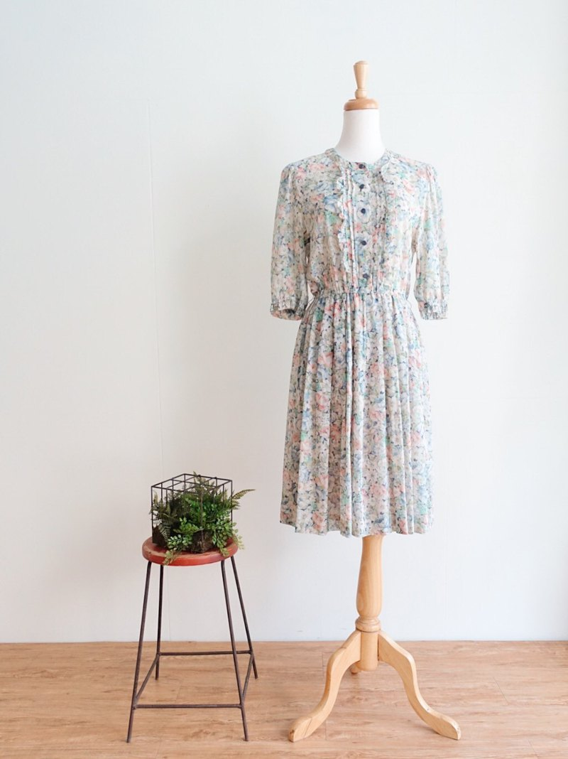 Vintage / Five-sleeve dress no.120 tk