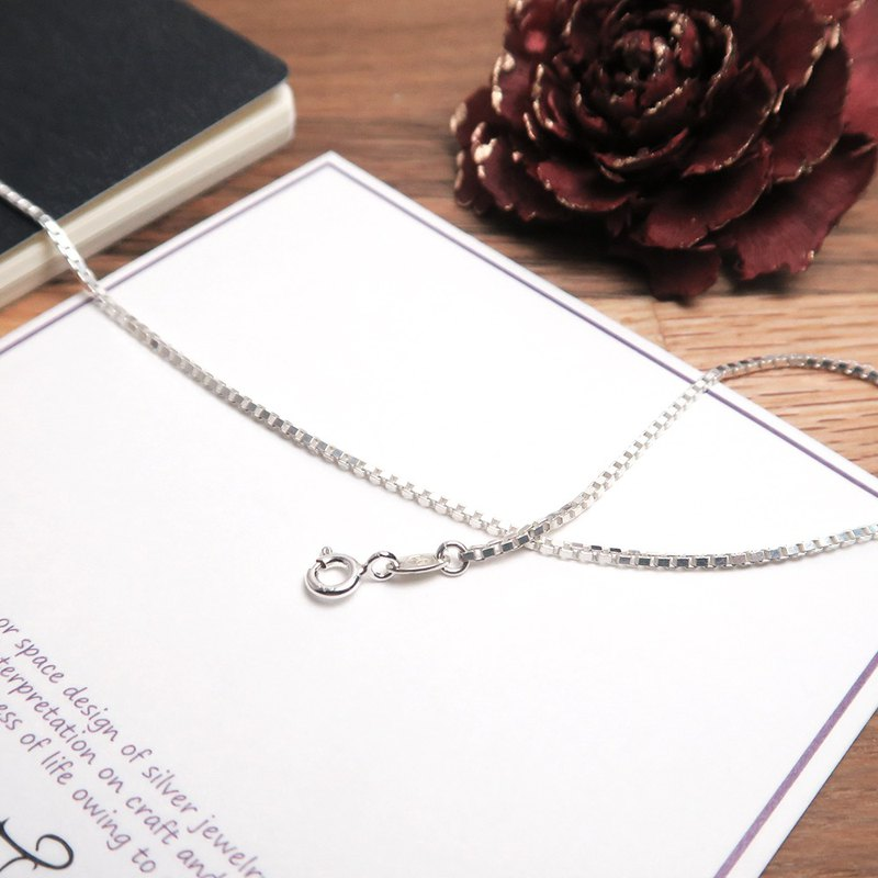 Matching chain - 925 silver chain Venice square box fine chain 1.3mm thin chain 14~32 inches custom length