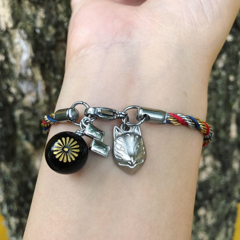 [Lost and find] Inari Shrine Fox Face Agate Bracelet