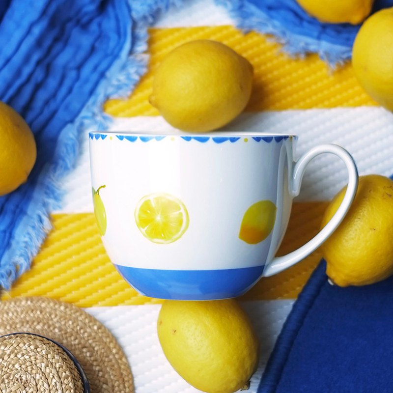 Sicilian Lemon Series Breakfast Cup Gift Box