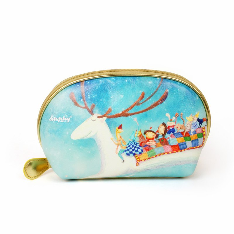 Stephy ice snow elf series gold-plated shell shell shape cosmetic bag / clutch bag / storage bag 98-BV