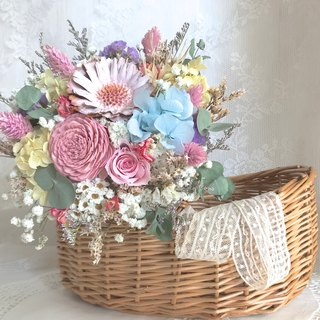 Masako spring flowers bouquet dried flowers immortal flower birthday gift limited
