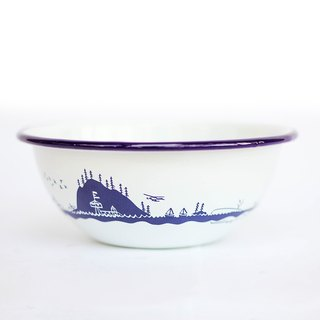Forest & Waves enamel bowl / ocean blue