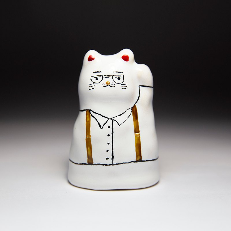 Street Good Fortune Lucky Cat-Sling Gentleman 1