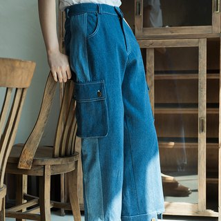 SYAO / Collage Cotton Washed Jeans