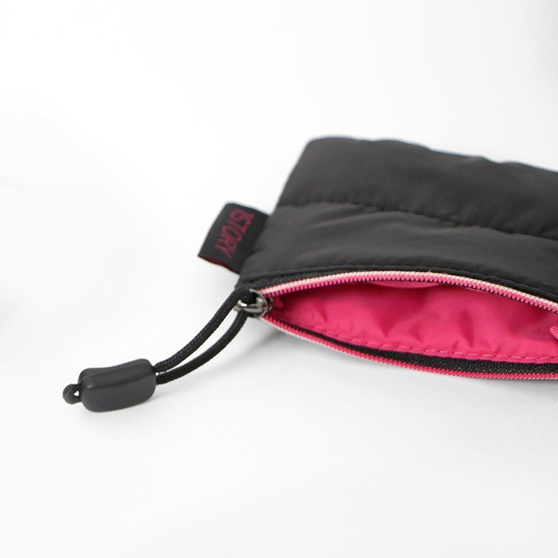 Coin Purse. Black ╳ pink