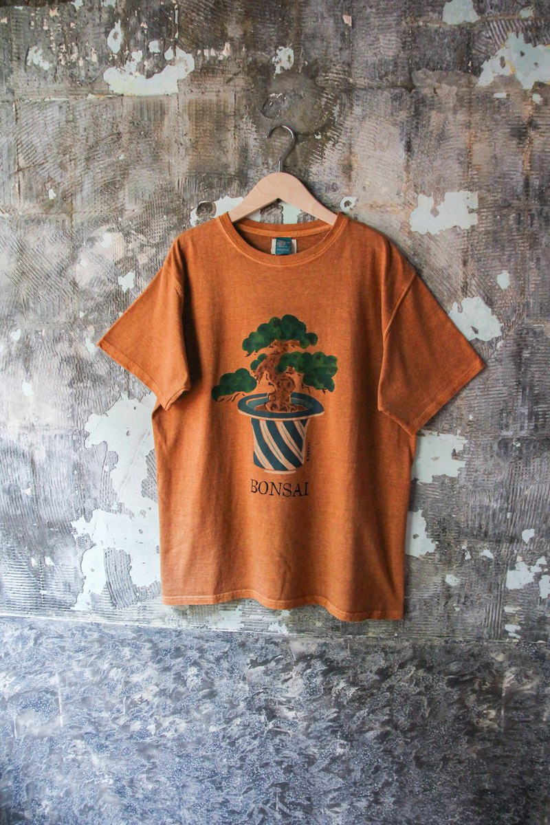 袅袅Department Store - New GOOD ON Round Neck Cotton BONSAI Pattern Top