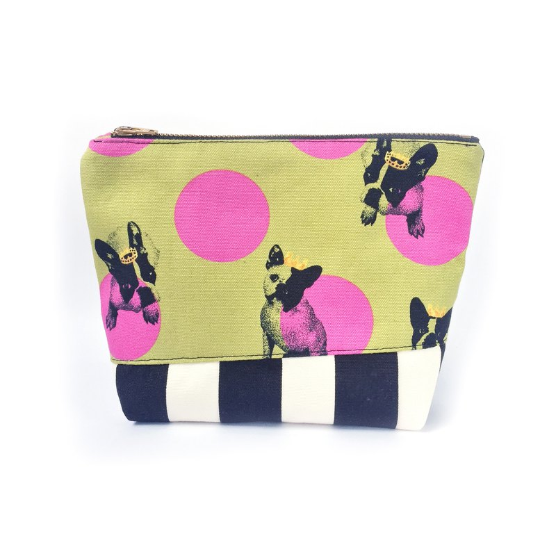 Boston Terrier Zipper Pouch, Cute Dog Makeup Bag, Travel Organiser, Cosmetic Bag