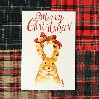 Christmas Card * Rabbit * Greeting