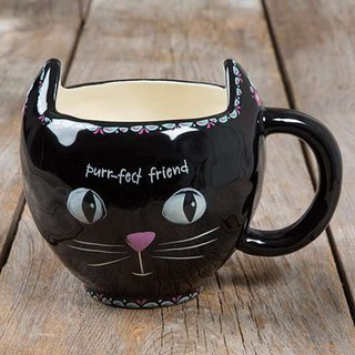 Styling mug - black cat 16oz ∣ MUG216