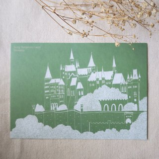 Travel scenery - Germany - Hohenzollern Castle / illustration postcard