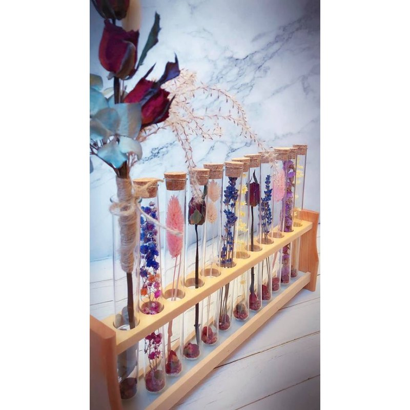 Romantic 12 tube test tube dry flower eternal flower decoration group