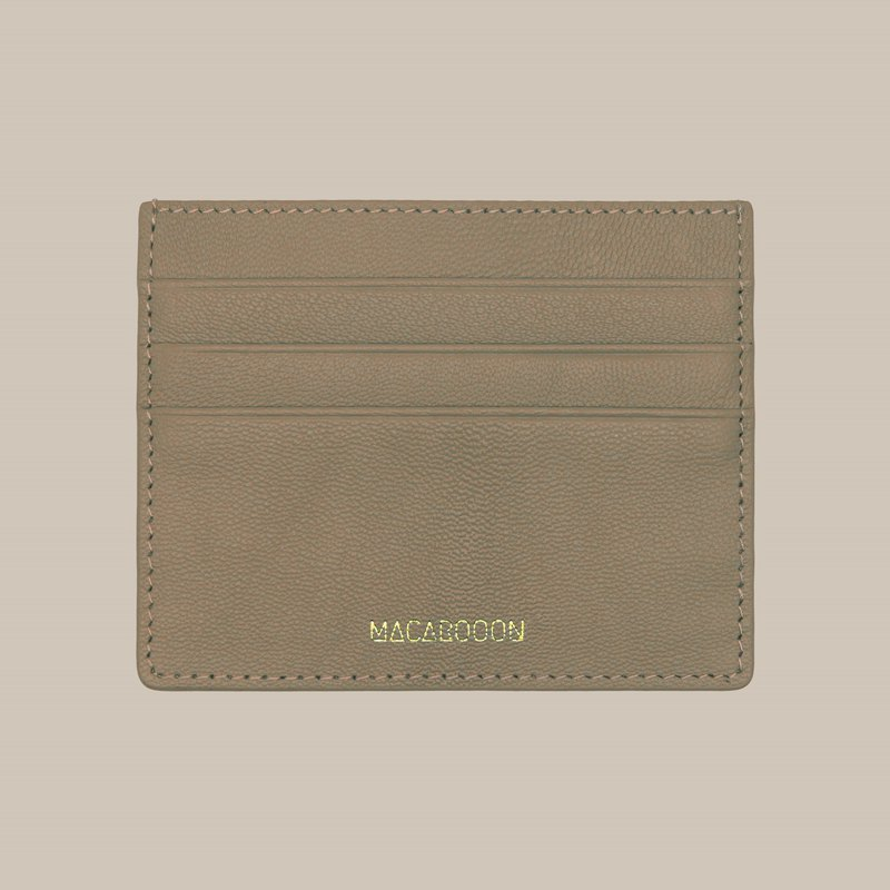 Custom leather macarons hazel camel card holder / wallet / card holder / card case