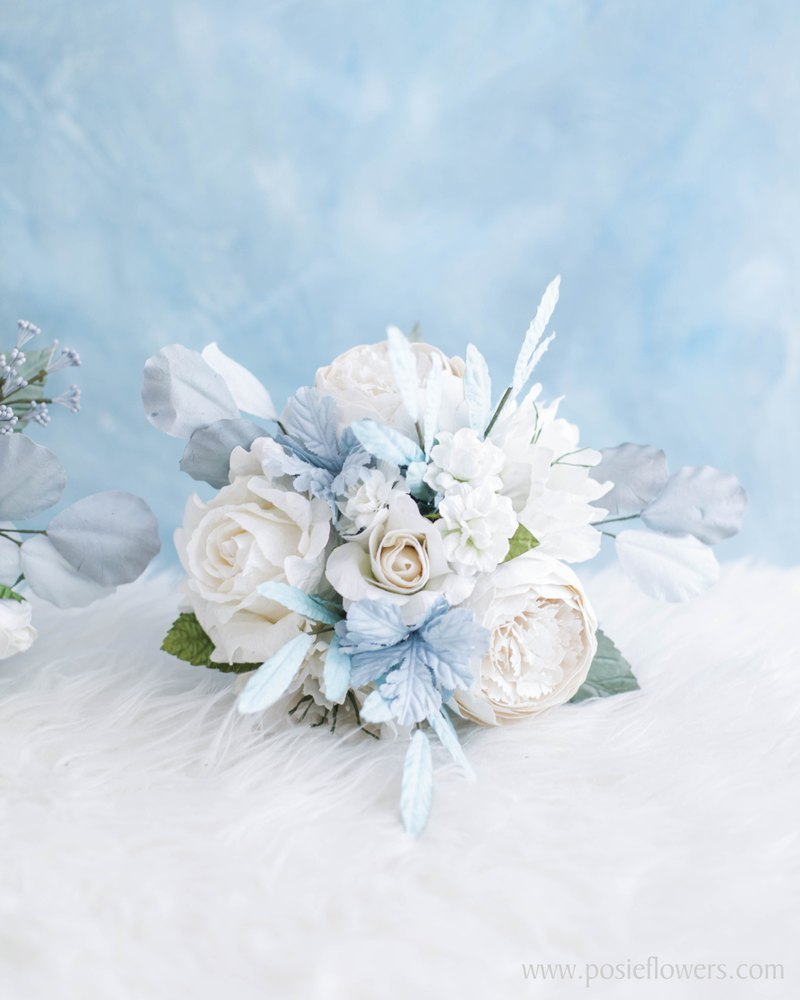 WINTER KNIGHTS Small Flower Bouquet Handmade Paper Flowers
