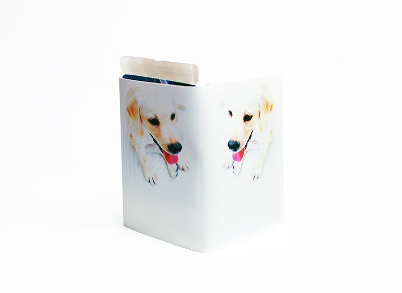 White dog prince. Passport cover