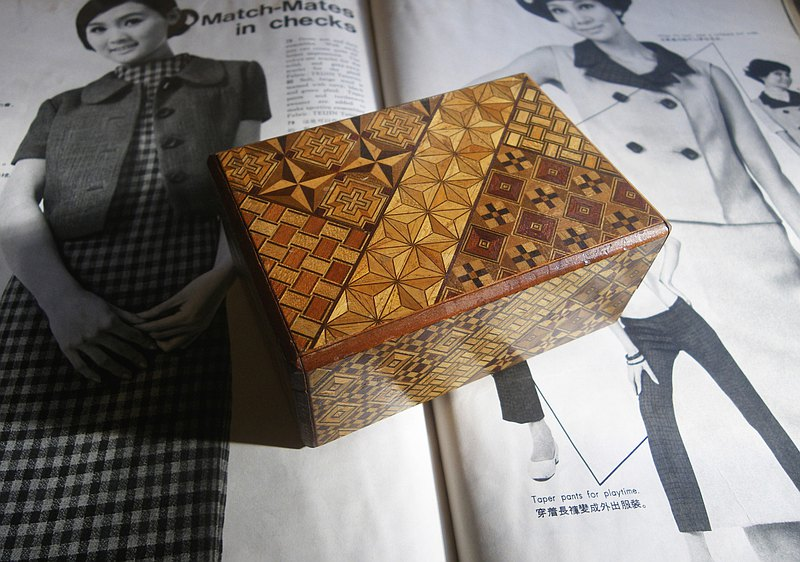 【老時光 OLD-TIME】早期日本精緻手工製寄木細工機關秘密盒