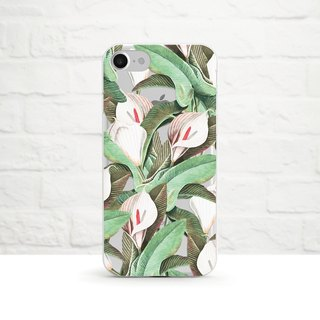 Peace Lily, Mint- -Clear Soft Phone Case, iPhone X, iPhone 8, iPhone 7, iPhone 7 plus, iPhone 6, iPhone SE, Samsung