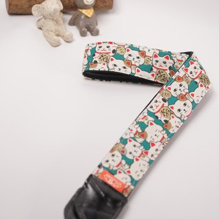 Lucky cat and cat decompression strap camera strap Ukulele Camera Strap