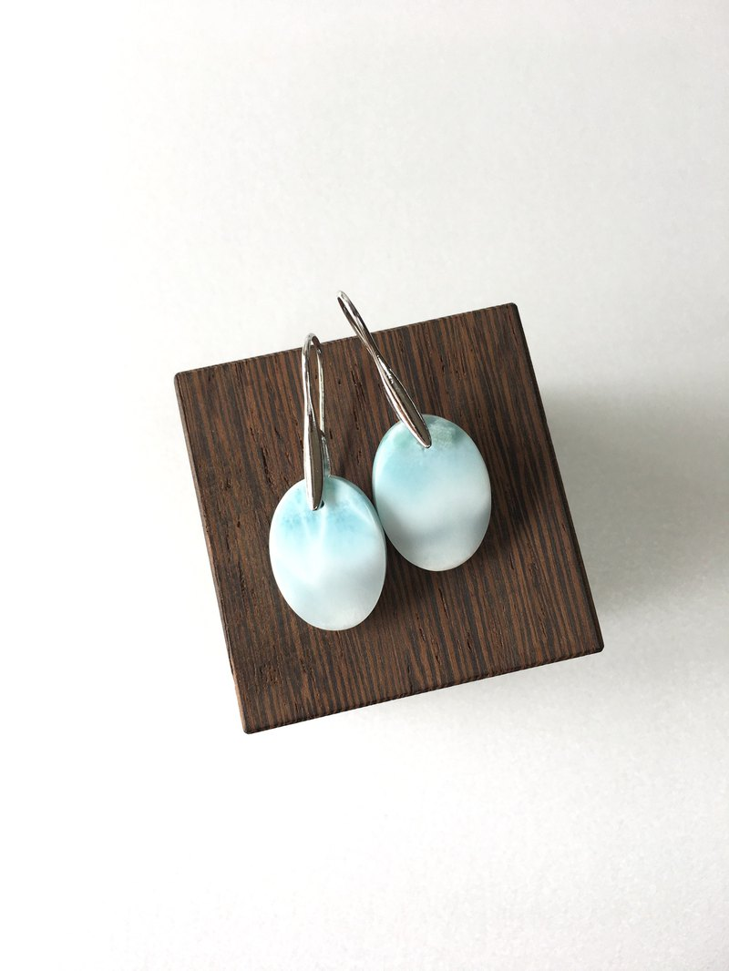 Larimar Hook-earring