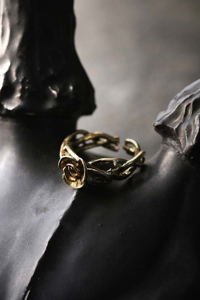 Rose and thorn Ring by DEFY.