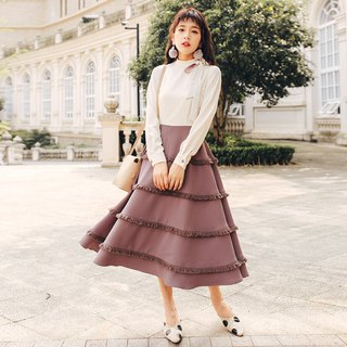 2018 autumn and winter ladies new color contrast woven ribbon long dress dress