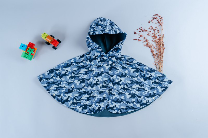 Double-sided cloak - cement camouflage hand made non-toxic jacket baby children's clothing