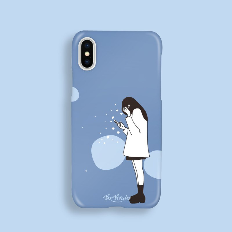 Why so lonely blue phone case