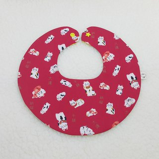 Lucky cat catch fish full pocket / baby bibs / bibs