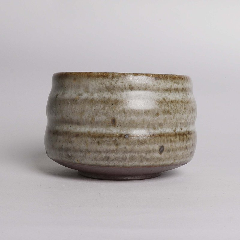 Firewood ash glaze iron spotted teacup