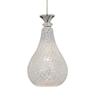 Light-transparent mosaic tile glass single lamp chandelier