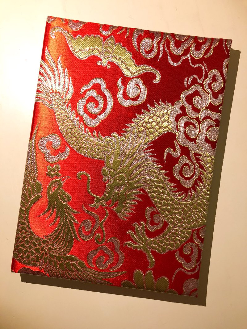 Dragon and Phoenix Brocade Marriage Certificate Set