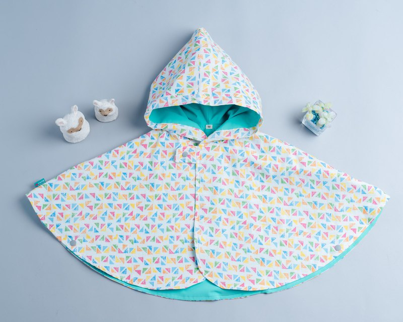 Double-sided cloak - geometry 3 hand made non-toxic jacket baby children's clothing