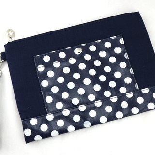 Dot Canvas Bag - Dark Blue