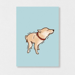 """Shiba Inu - poo"" Planet Flies / Shiba Inu / wool kids / illustration postcards / Hands Bazaar"