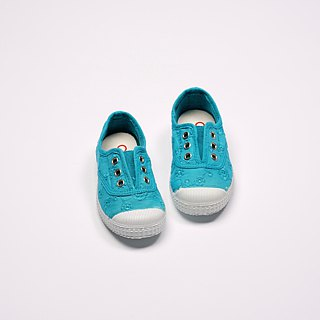 Spanish nationals canvas shoes CIENTA children's shoes jacquard sapphire blue incense shoes 70998 16