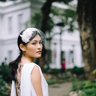 Even classical bride hat veil Bird cage veil - silk fabrics - lace accessories