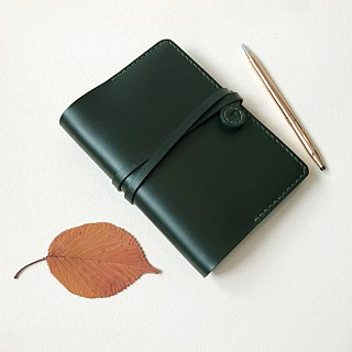 翡冷翠A6 British racing green leather hand book cover book cover