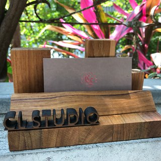 CL Studio [Modern minimalist - geometric style wooden phone holder / business card holder] N96