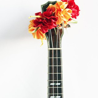 ribbon lei for ukulele,ry hibiscus,ukulele strap,ukulele accessories,hawaiian