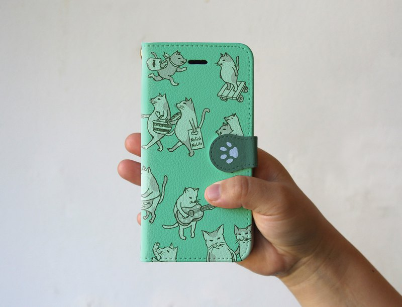 iPhone cover · notebook type cat full of mint
